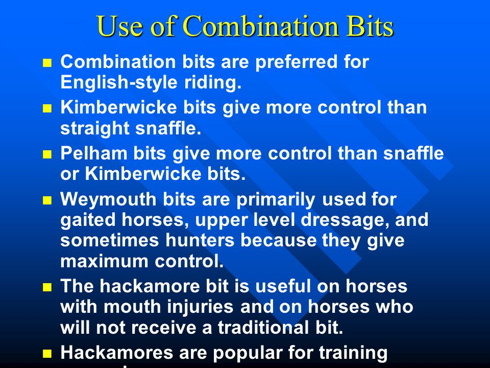 Use of Combination Bits