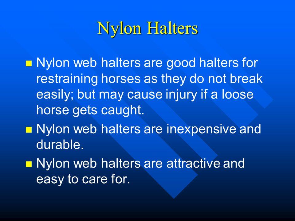 Nylon Halters