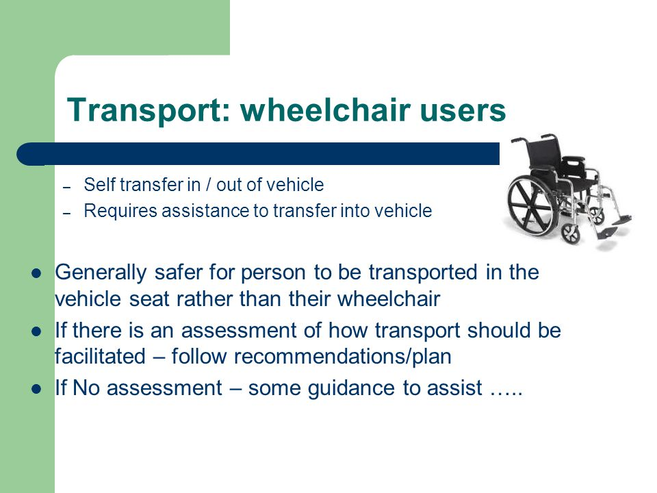 Transport: wheelchair users