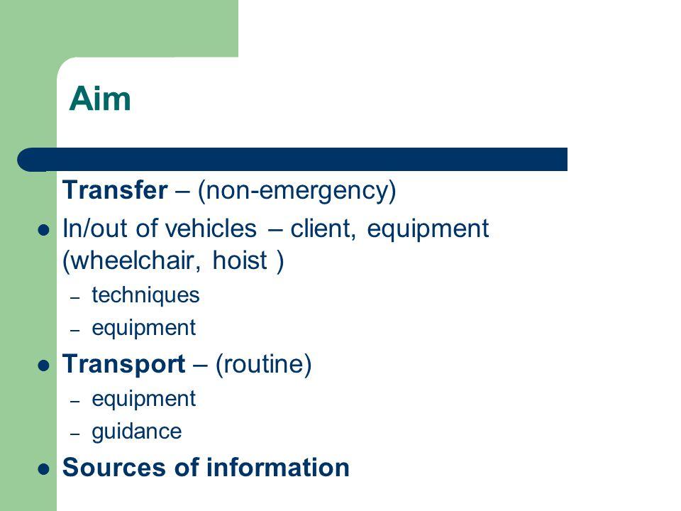 Aim Transfer – (non-emergency)