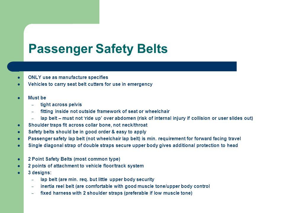 Passenger Safety Belts