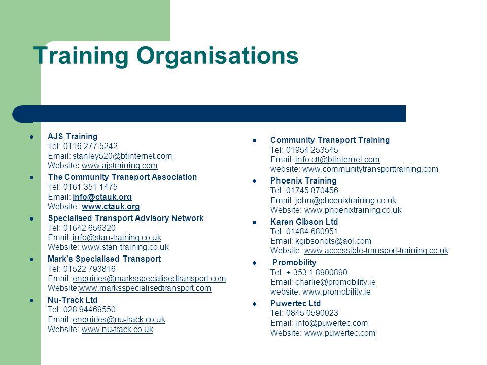 Training Organisations