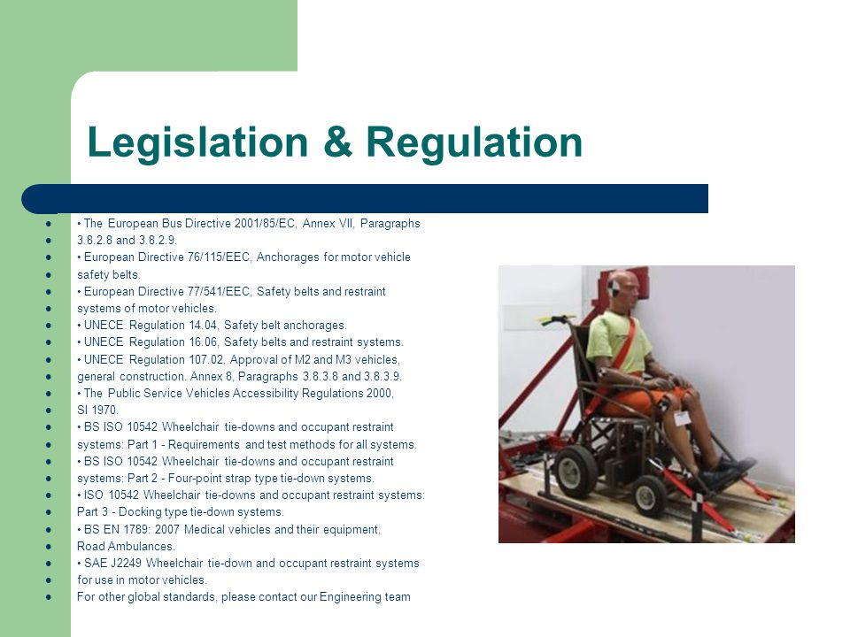 Legislation & Regulation