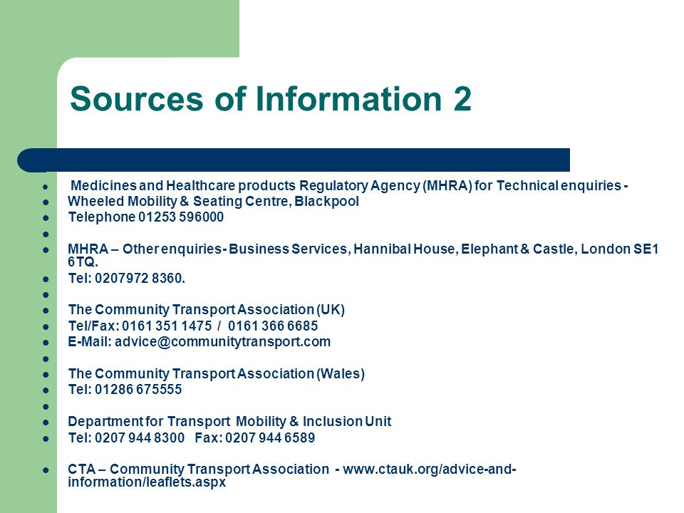Sources of Information 2