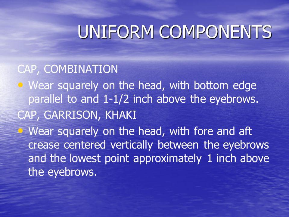 UNIFORM COMPONENTS CAP, COMBINATION