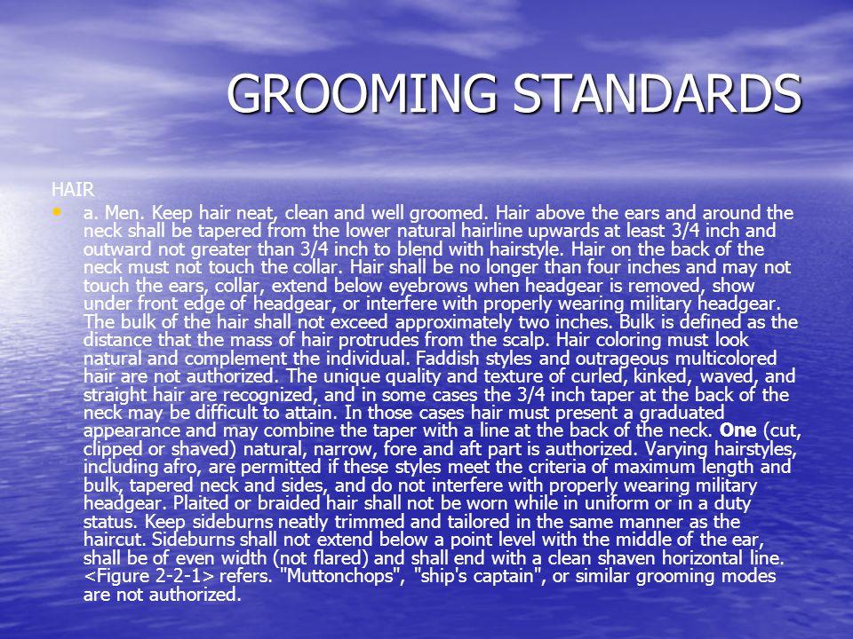 GROOMING STANDARDS HAIR