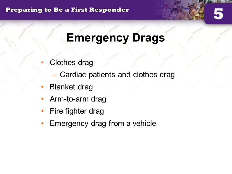 Emergency Drags Clothes drag Cardiac patients and clothes drag