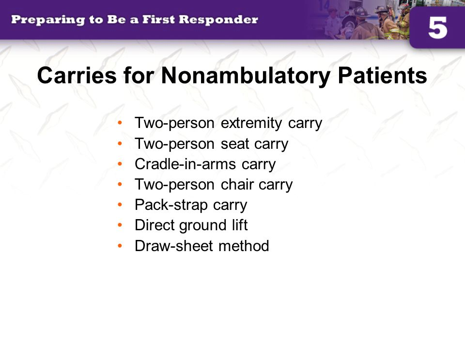Carries for Nonambulatory Patients