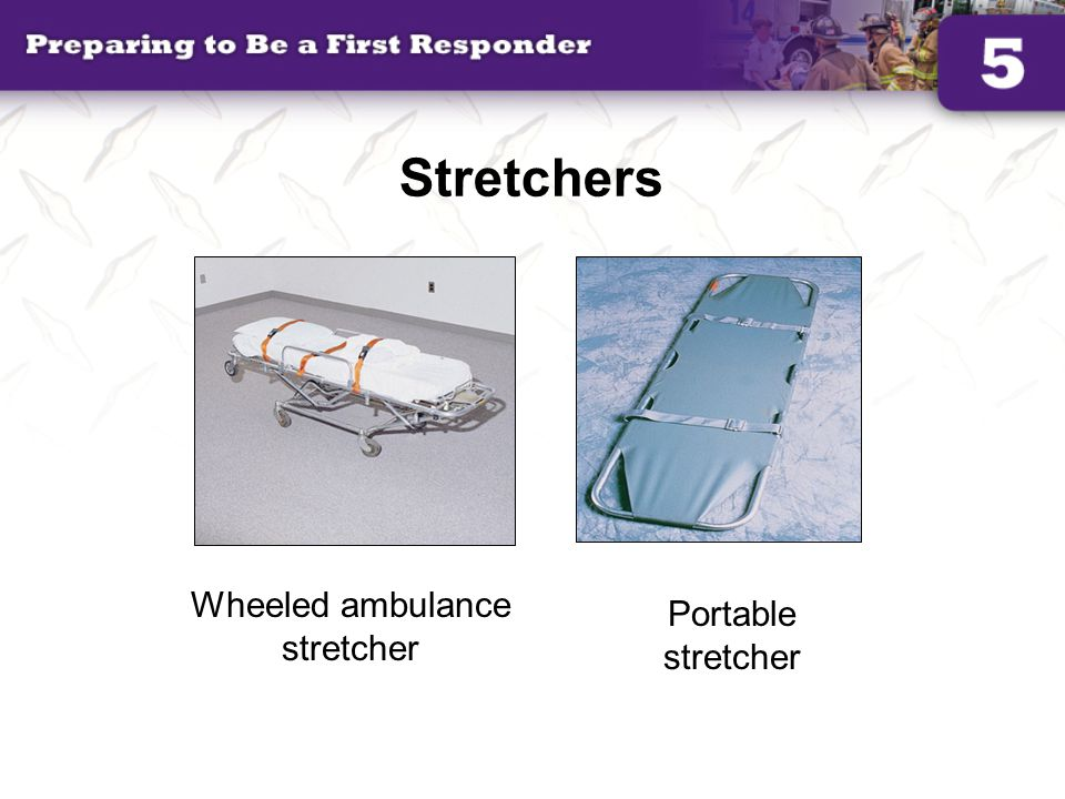 Wheeled ambulance stretcher