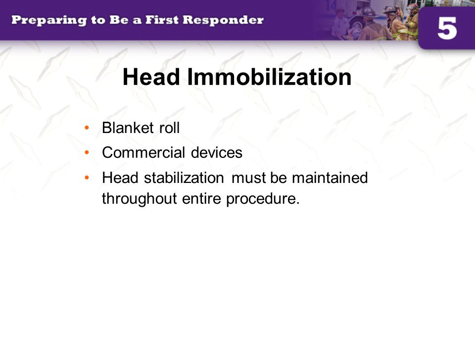 Head Immobilization Blanket roll Commercial devices