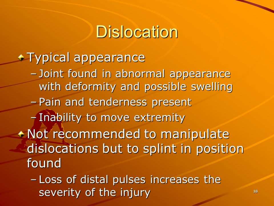 Dislocation Typical appearance