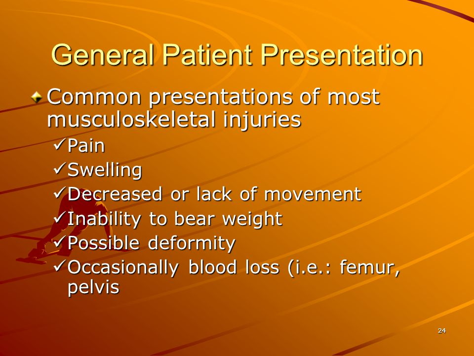 General Patient Presentation
