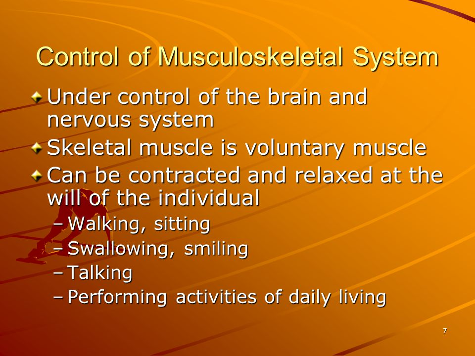 Control of Musculoskeletal System