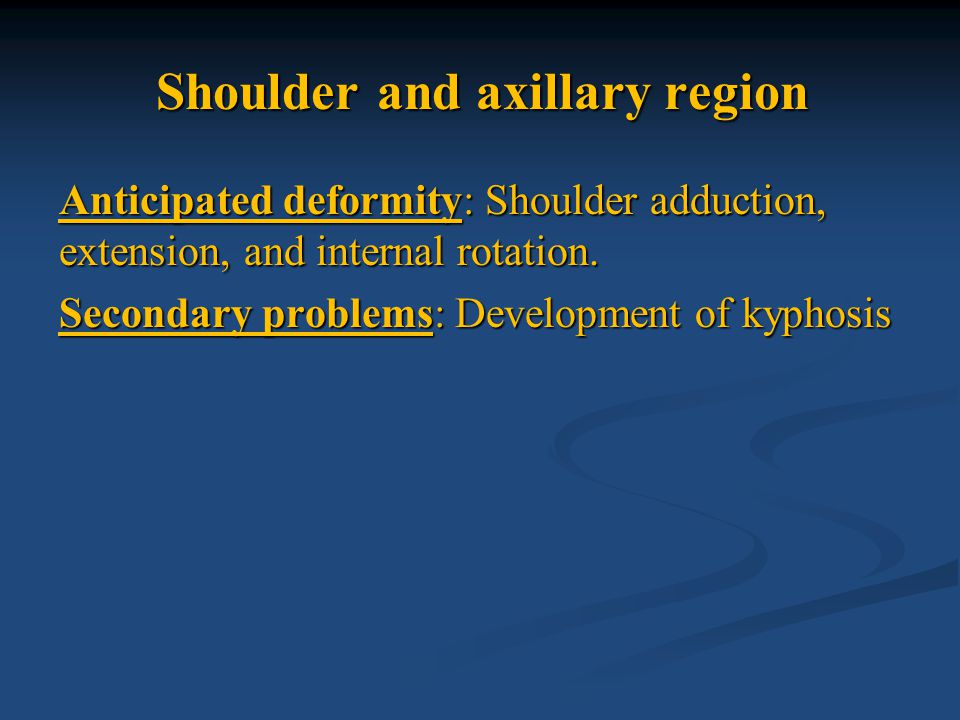 Shoulder and axillary region