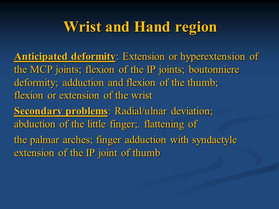 Wrist and Hand region