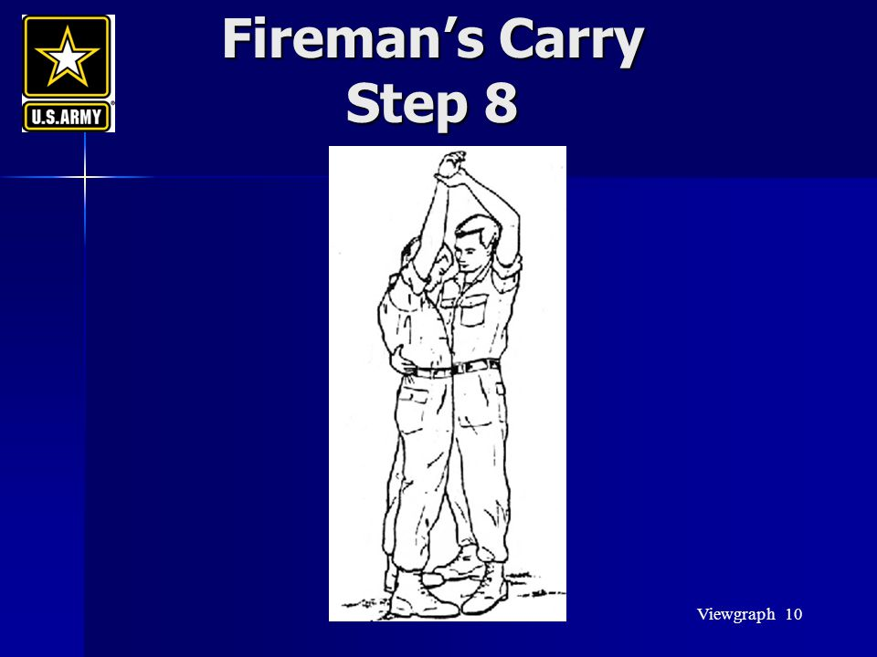 Fireman's Carry Step 8