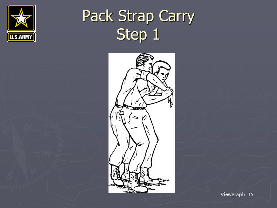 Pack Strap Carry Step 1