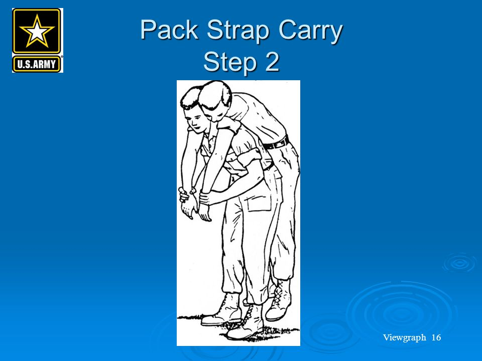 Pack Strap Carry Step 2