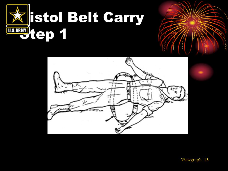 Pistol Belt Carry Step 1