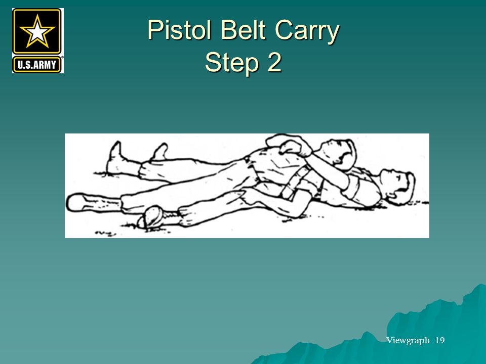 Pistol Belt Carry Step 2