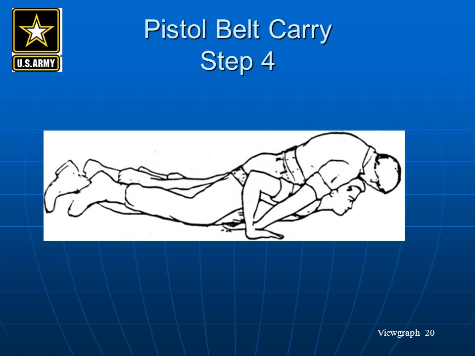 Pistol Belt Carry Step 4