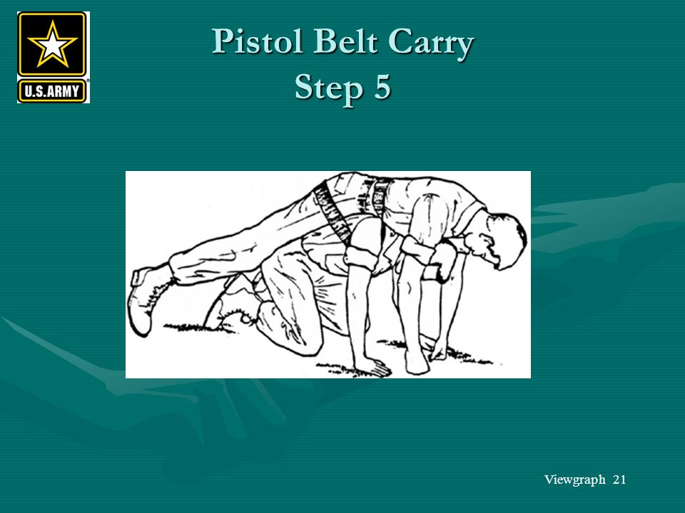 Pistol Belt Carry Step 5