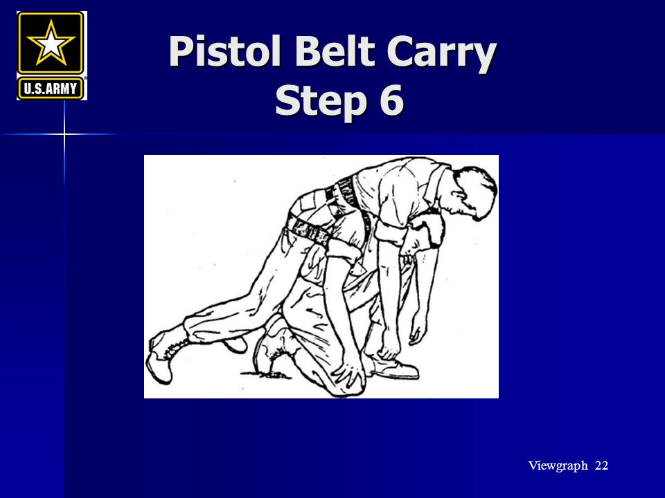 Pistol Belt Carry Step 6