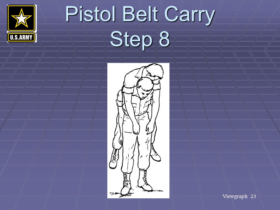 Pistol Belt Carry Step 8
