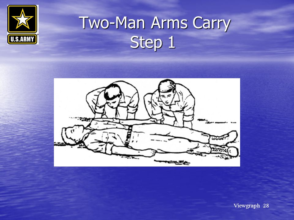Two-Man Arms Carry Step 1