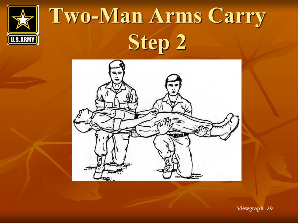 Two-Man Arms Carry Step 2