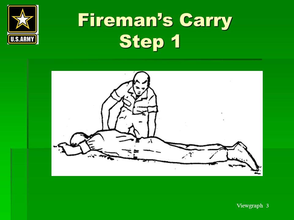Fireman's Carry Step 1