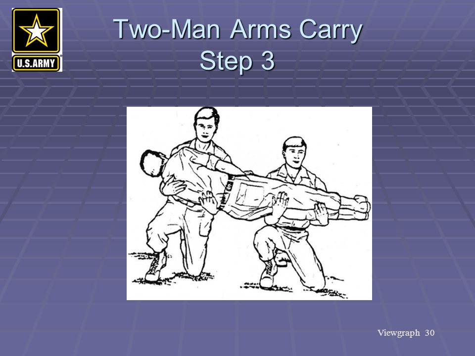 Two-Man Arms Carry Step 3