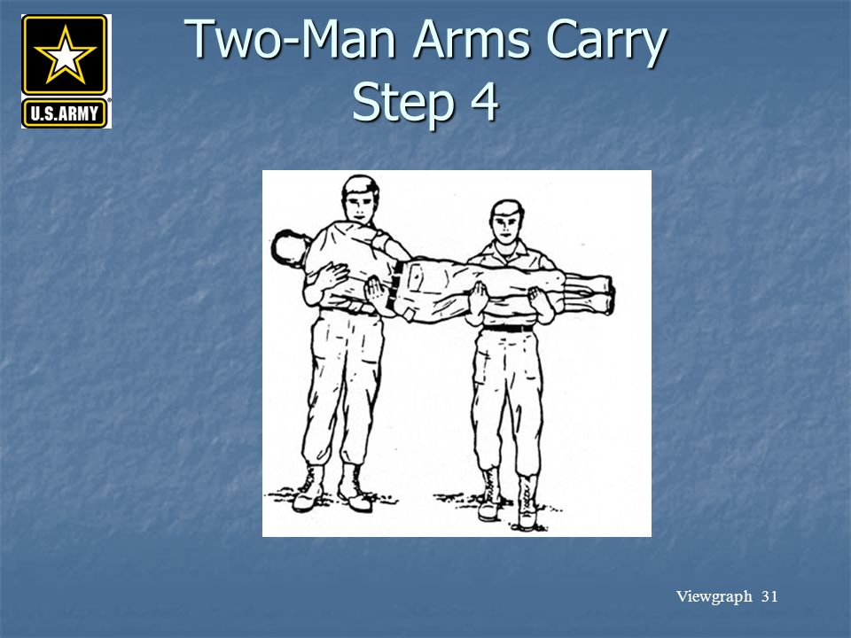 Two-Man Arms Carry Step 4