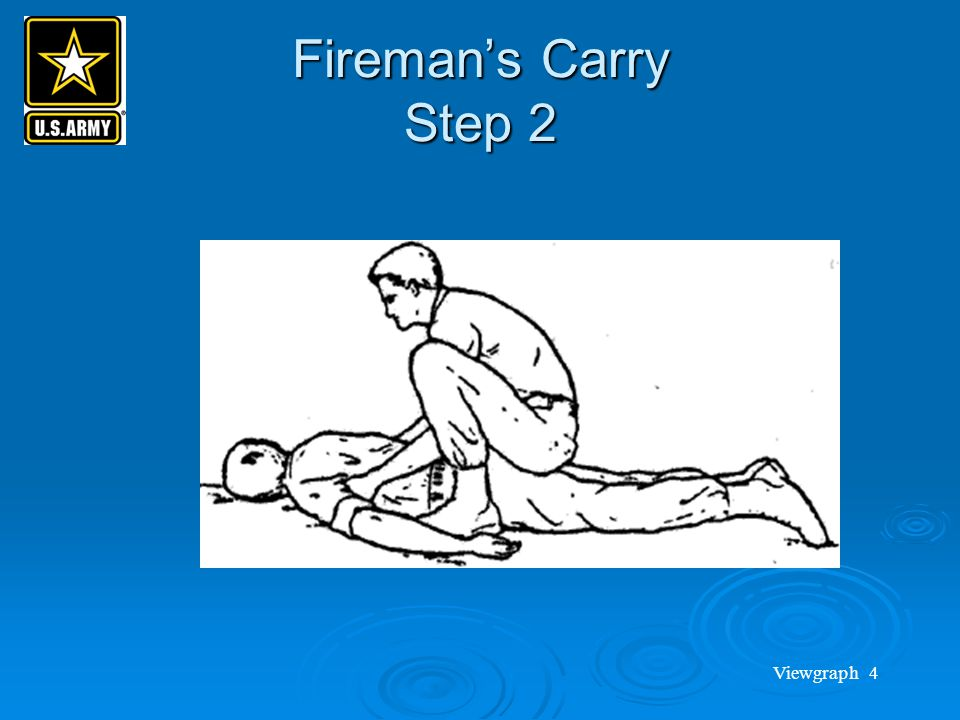 Fireman's Carry Step 2