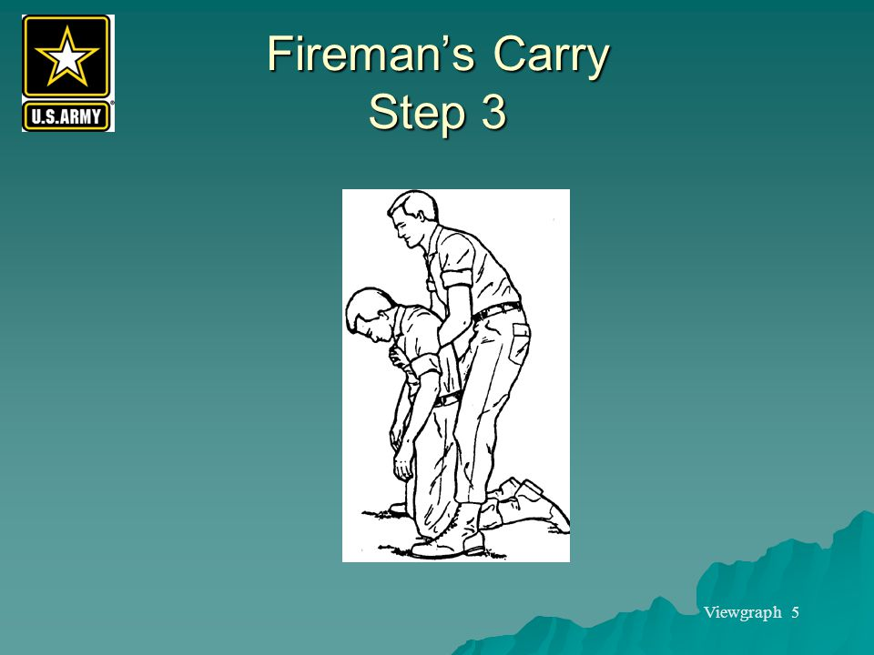 Fireman's Carry Step 3