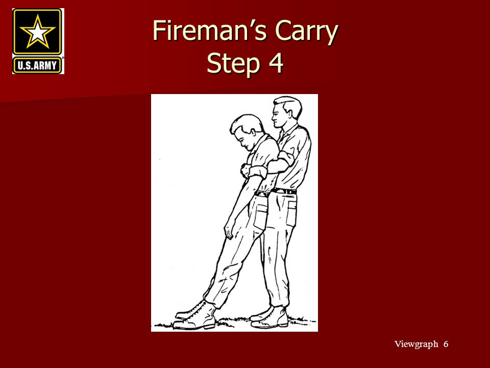 Fireman's Carry Step 4