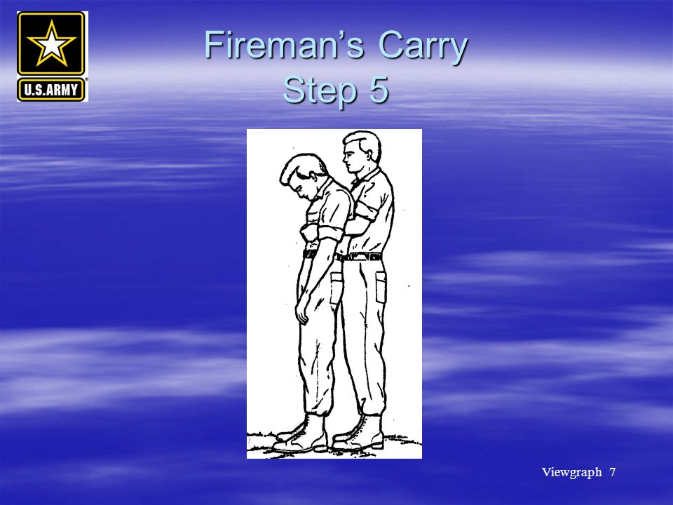 Fireman's Carry Step 5