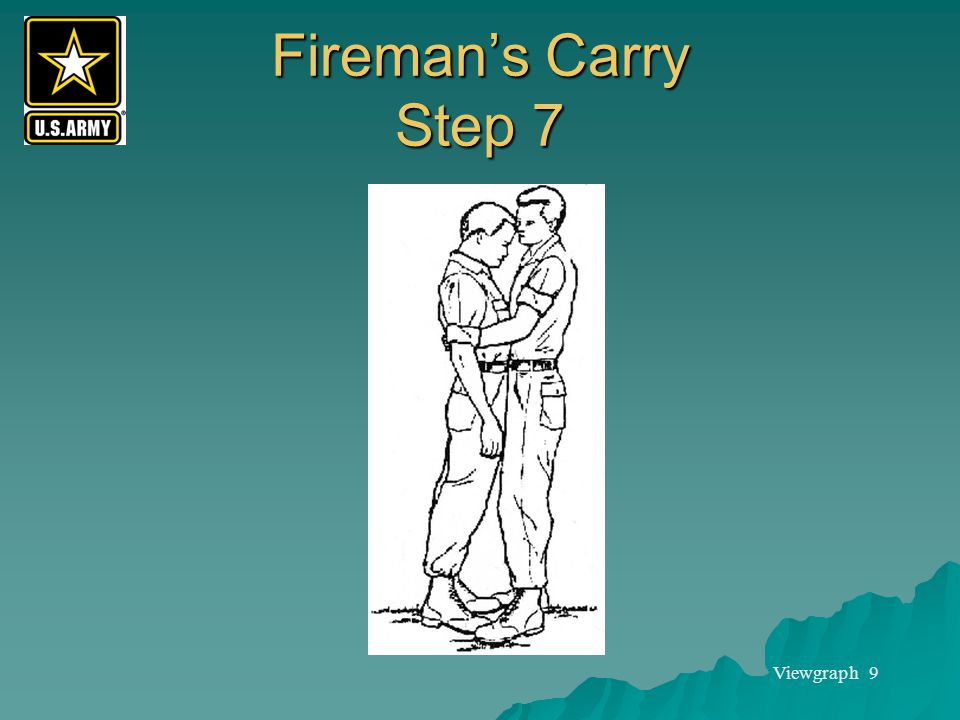 Fireman's Carry Step 7