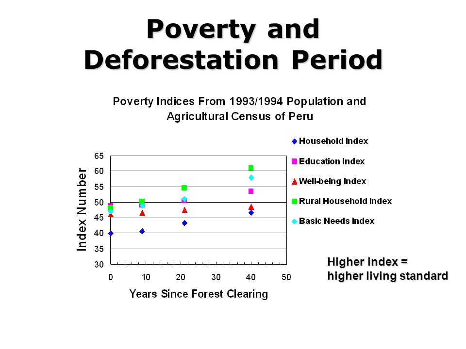 Poverty and Deforestation Period