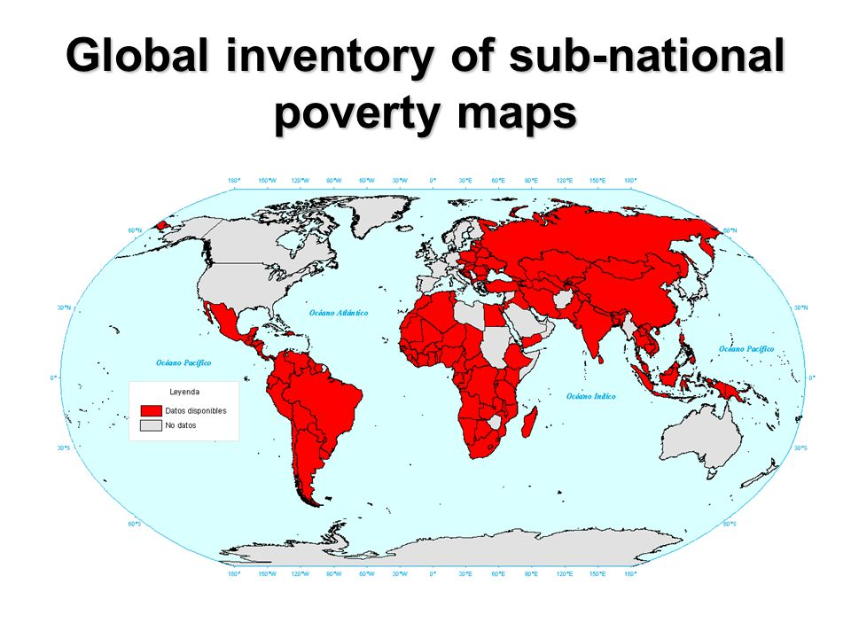 Global inventory of sub-national poverty maps