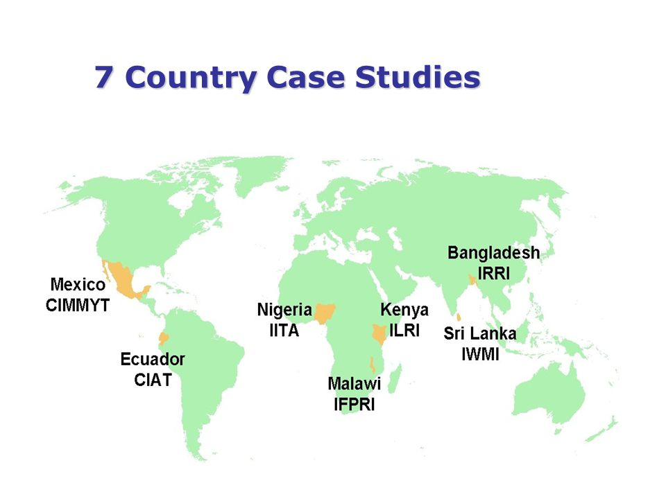 7 Country Case Studies