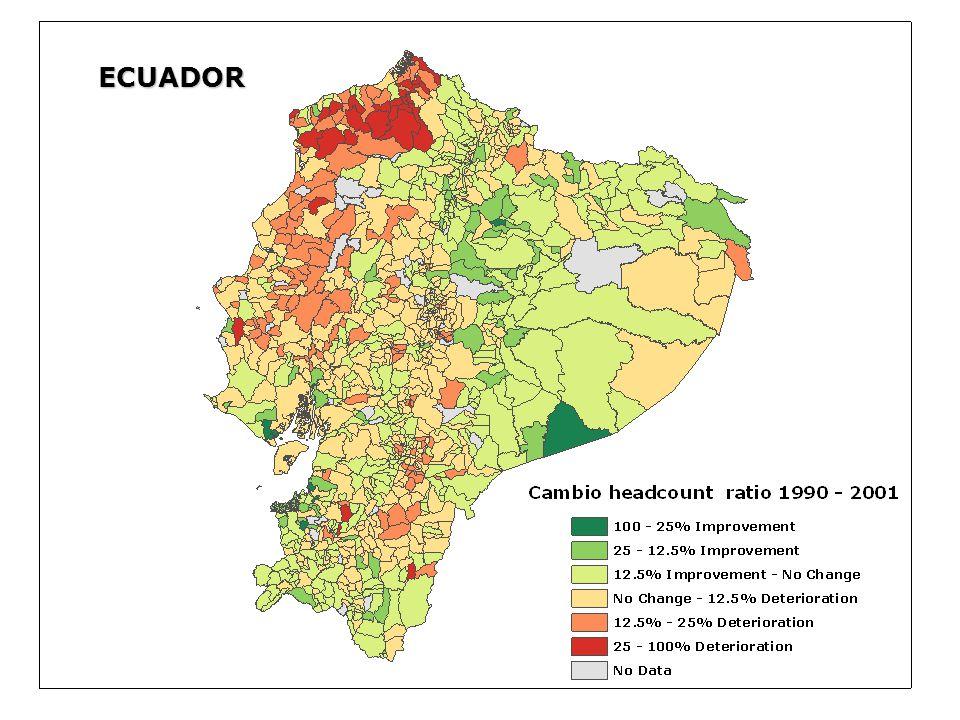 ECUADOR File: consumo90_2001_dd.shp (Cambio Headcount ratio 1990 - 2001) Attribute Field: D_F_0_H.