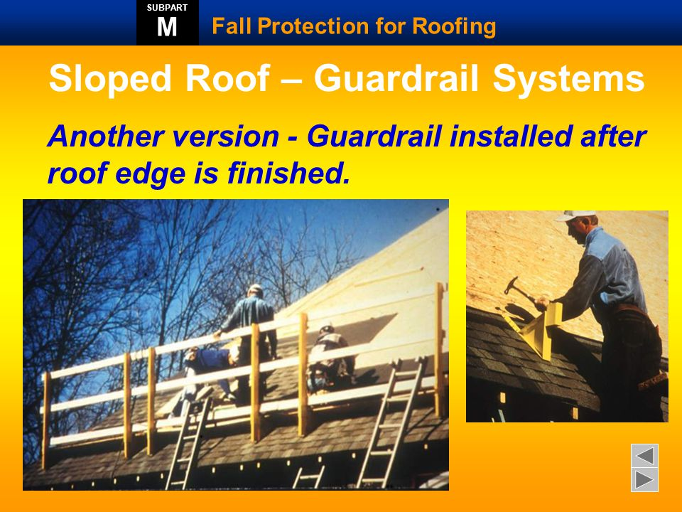 Sloped Roof – Guardrail Systems