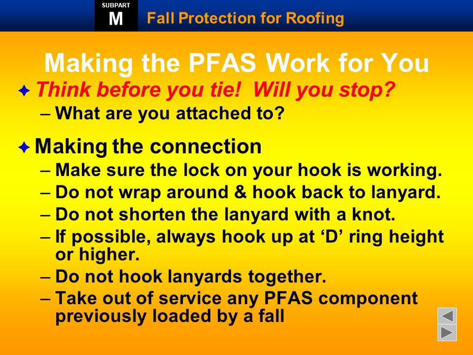 Making the PFAS Work for You