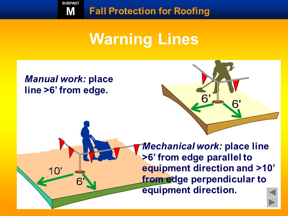 Warning Lines M Fall Protection for Roofing