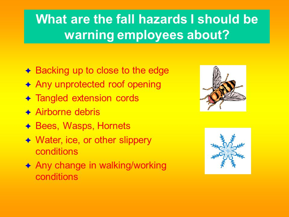 What are the fall hazards I should be warning employees about