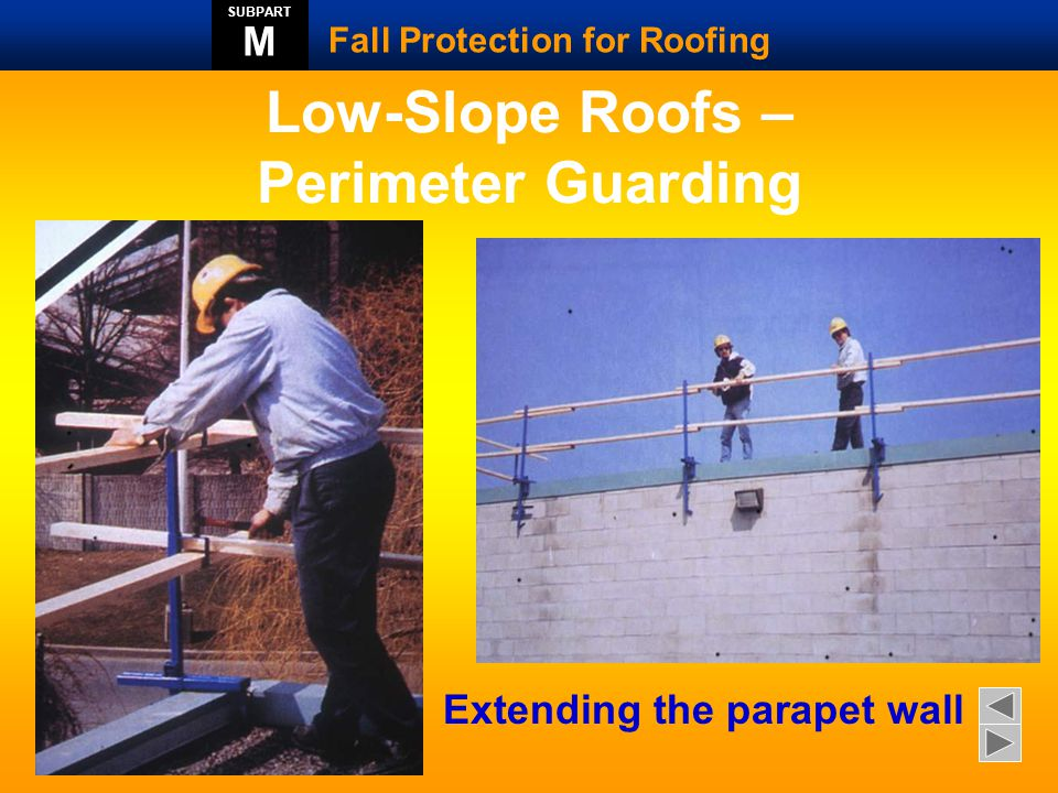 Low-Slope Roofs – Perimeter Guarding