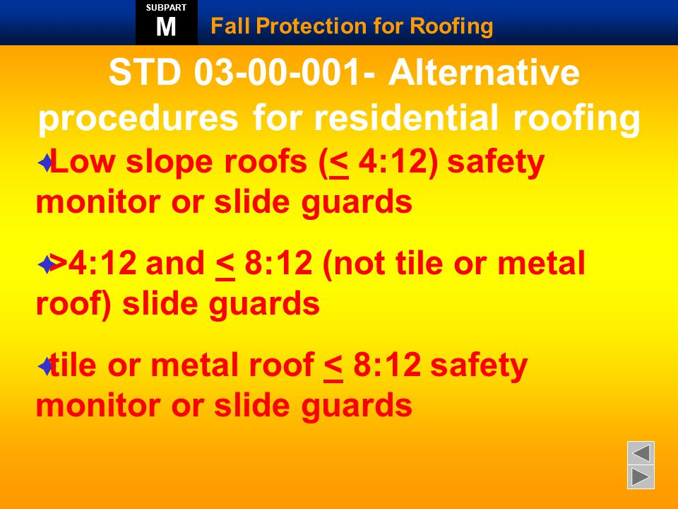 STD 03-00-001- Alternative procedures for residential roofing