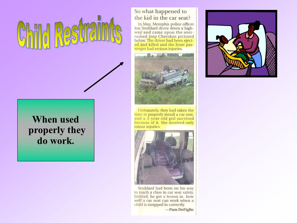 Child Restraints When used properly they do work.