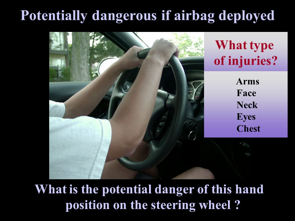Potentially dangerous if airbag deployed